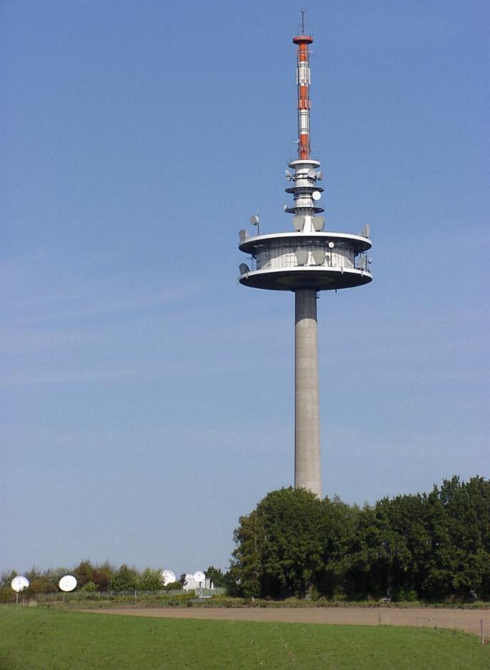 Hoog van de toren blazen